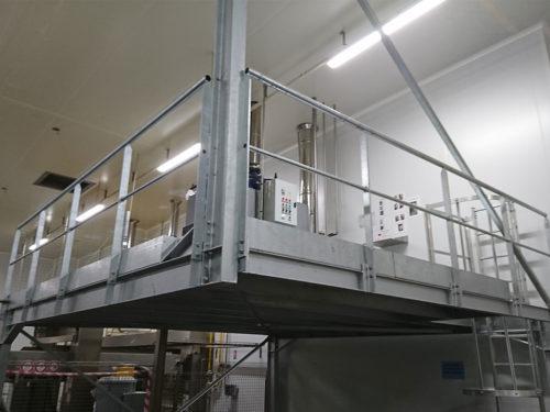 Mezzanine industrielle pour bâtiment - Métal-s